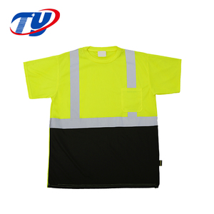 100% Cotton High Visibility short Sleeve Reflective t shirt