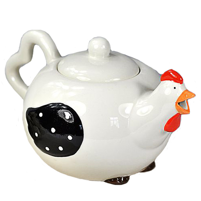 Lovely Cheap Chicken Ceramic Teapot