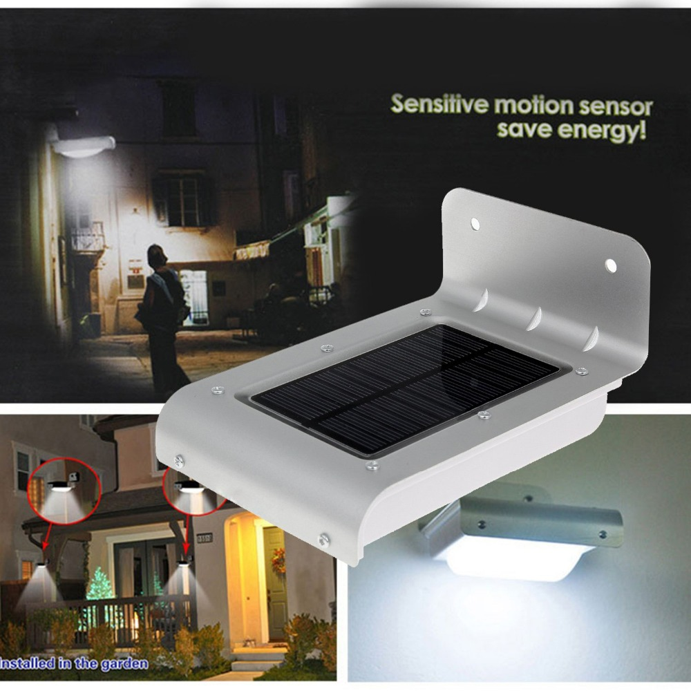 24 LED Solar Power Motion Sensor Garden Security Lamp IP65 Waterproof Protection Level Solar Powered Wall Light
