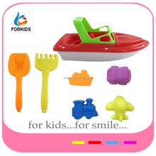 2017 HOT SMALL PLASTIC SAND BEACH TOYS SET,FUNNY BEACH BOAT AND SHOVEL TOYS,PLASTIC NEW SAND MOLD TOY FOR KID'S OURDOOR PLAY