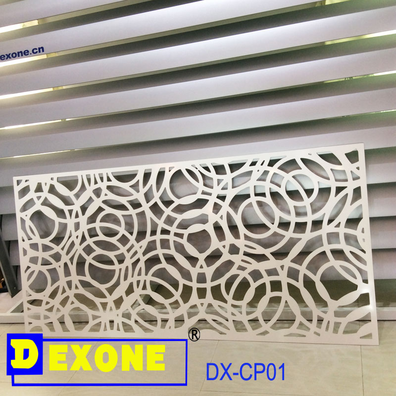 Metal aluminum carved decorative panel for fence screen