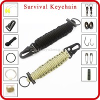 wholesale promotional rubber key chain ring for outdoor survival