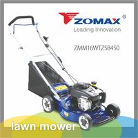 China 16inch wheel adjustable grass cutting B&S B450E American gasoline engine wholesale manual cheap mini lawn mower for sale