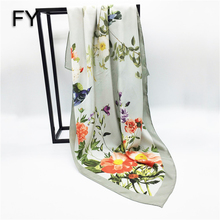 Factory direct square 100% silk scarf custom print