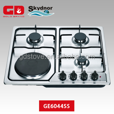 4 burner stainless steel combination gas electric ranges