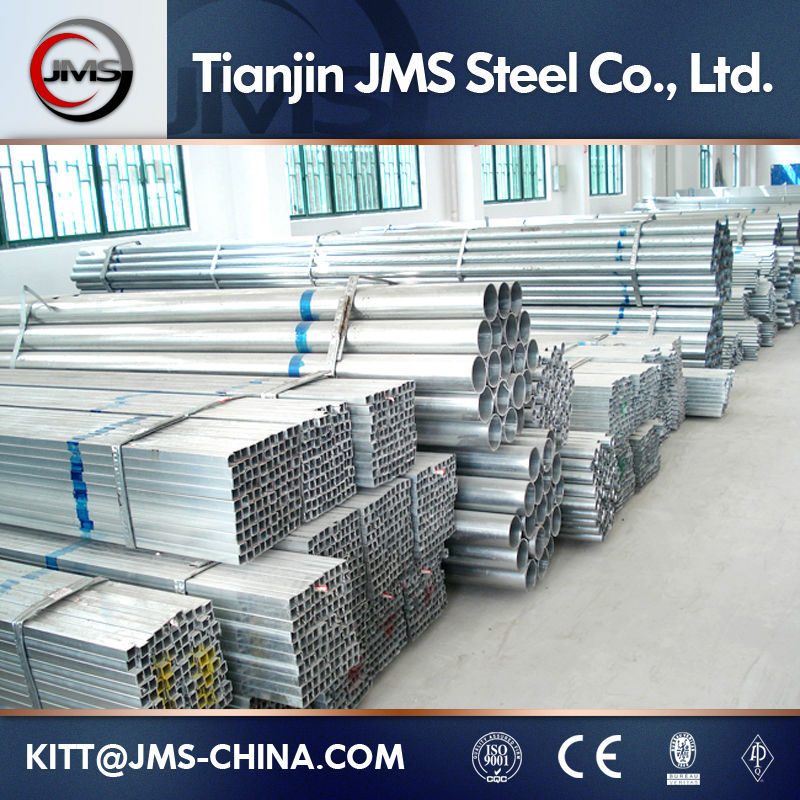 ERW Galvanized Iron Scaffolding Pipe With Clamps used factory for sale