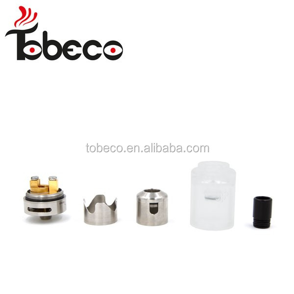 Tobeco China wholesale 2016 fashion design hurricane junior rta 2ml hurricane junior 1:1 clone