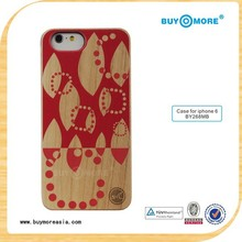 2014 new colorful drawing pattern case for wood Iphone 6,for iphone 6 covers