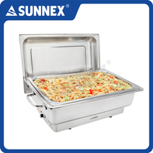 SUNNEX Polished Stainless Steel Electric Buffet Chafing Dish