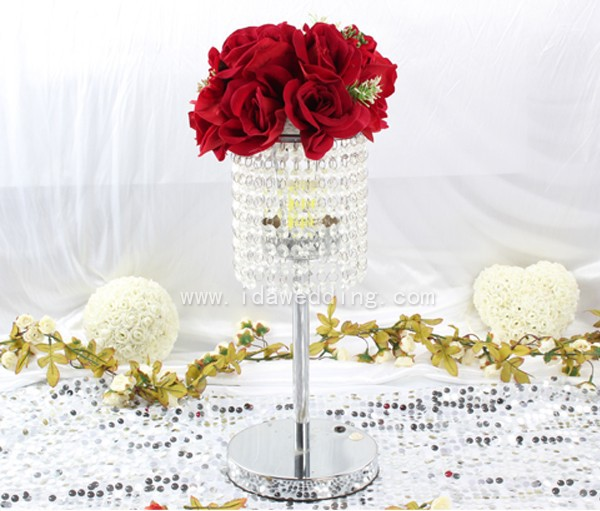 Acrylic Chandelier Centerpieces For Weddings DecorationAcrylic Led Lamp With Rechargeable
