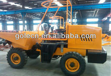 2ton tilting cart with electric starting, four wheel drive tipper