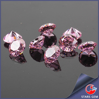 round cut cubic zirconia lab created pink diamond