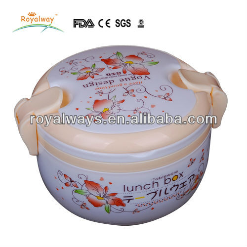 durable double layer plastic insulation barrels with dinner set