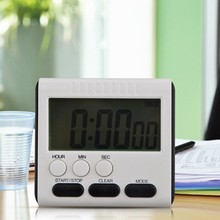 Square Magnetic Large LCD Digital Kitchen Timer Count Up Down Alarm Clock 24 Hours