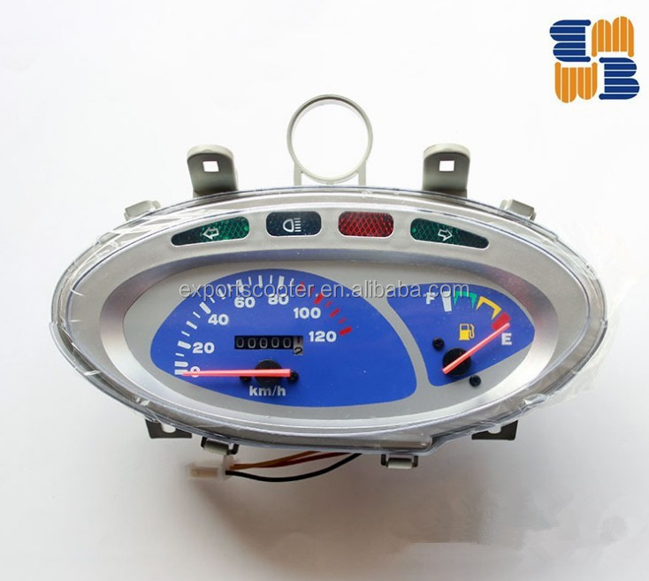 Universal tachometer motorcycle spare parts meter Blue LED speedometer electronic meter