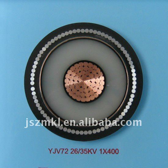 Copper conductor, XLPE insulated, aluminium wire armoured, PVC sheathed electrical cable