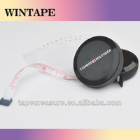 150cm/60inch printable mini case black measuring tape polyester sewing tools promotional gift china with Logo and Name
