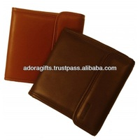 Real leather cd cover / dvd cases wholesale / wedding dvd case with button lock