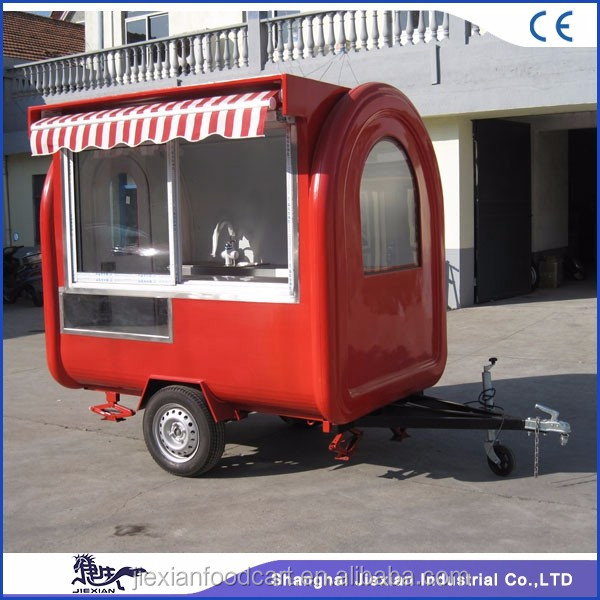 JX-FR220H Shanghai jieixan 2017 European Quality the best food trailer in the world
