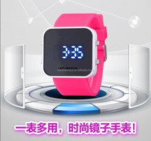 silicone sport mirror led watch hot