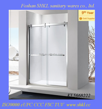 Stainless Steel Silver Color Double Roller Sliding Shower Door