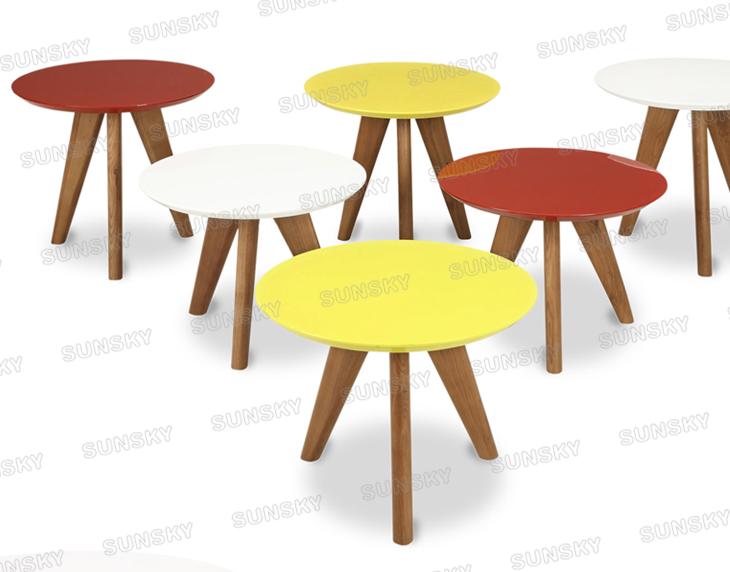 FOSHAN factory home furniture New style colourful wooden end table 1481B