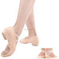 Factory Wholesale Canvas Split-sole Teacher's Ballet Shoes