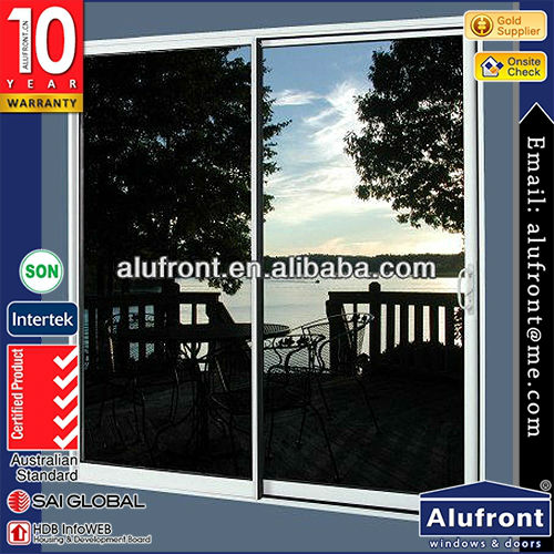 high quality aluminium sliding door with double glass panels for hotel