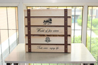 wood Wine Gift Box pine wood wine boxes for 4 bottle wine packing case