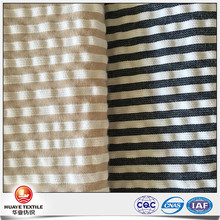 Yarn dyed wholesale quality 100 Cotton strip seersucker fabric for shirt
