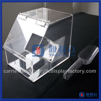 new design custom acrylic sweet containers /acrylic sweet dispensers