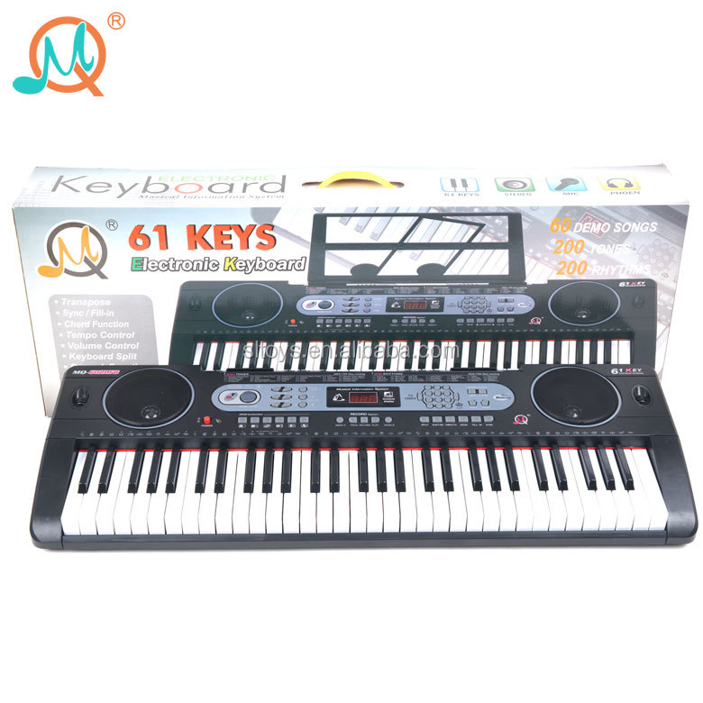 61 key plastic musical instruments bluetooth mode electronic keyboard piano with musict stand