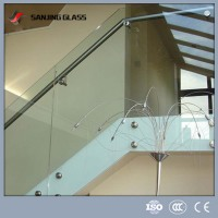 Easy fix staircase railing tempered glass