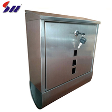 Pretty garden decor durable modern metal stainless steel mailboxes newspaper box