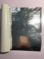 High Radiant Barrier Reflective Aluminized Mylar film/foil laminated woven fabric sheet for Thermal Insulation Roofing