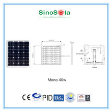 price per watt solar panels of 40w solar panel