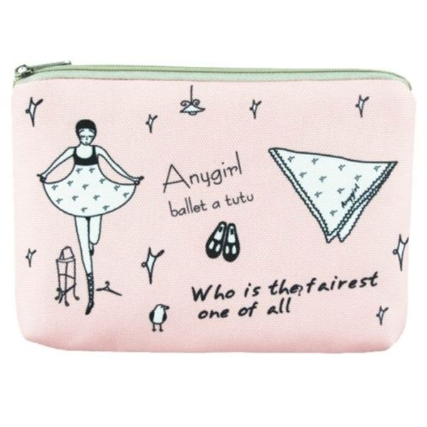 New fashion ladies canvas print travel cosmetic pouch bag