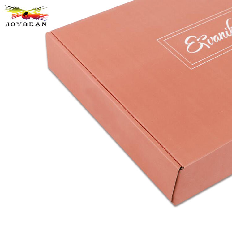 High quality shirt corrugated paper box pink