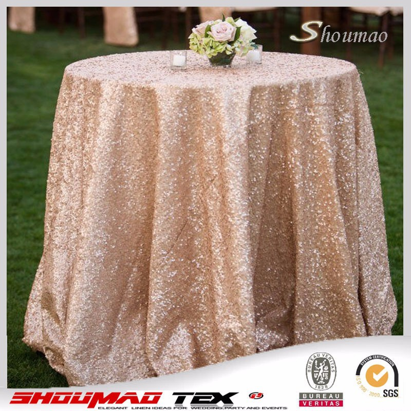 Wholesale 108 inch round sequin tablecloth for wedding for 108 round table cloth