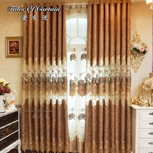 Cheap price and luxury design and translucent finished curtain fabric