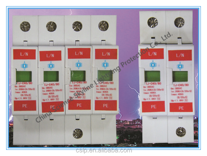 TJ-C40 Surge Protective Device SPD lightning protection device arrester good quality made in China