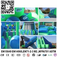 Giant Insane Inflatable 5K slide for kids and adults for outdoor activity