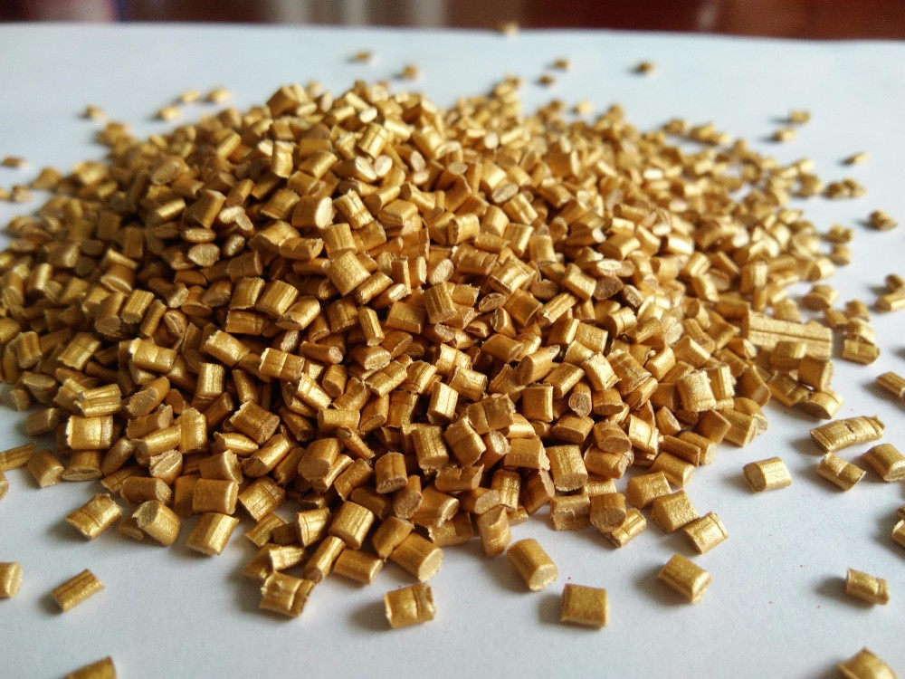 Plastic granules price golden Color Masterbatch for abs plastic injection