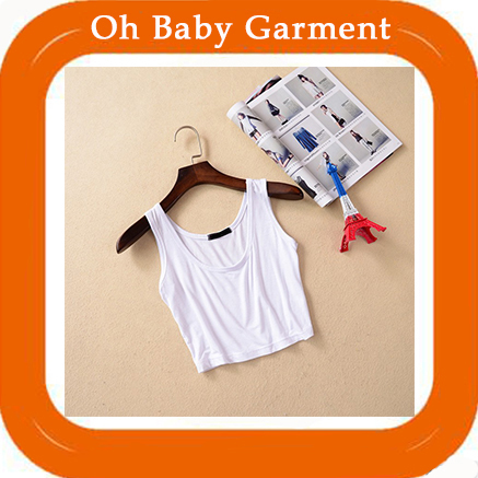 Oh Baby Garment OEM Design China Wholesale Custom Sexy Hot Croptop Sleeveless Vest Sport gym Cotton Women's Tank Top