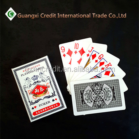 paper Material and Normal Type Glowing Playing Cards with company logo