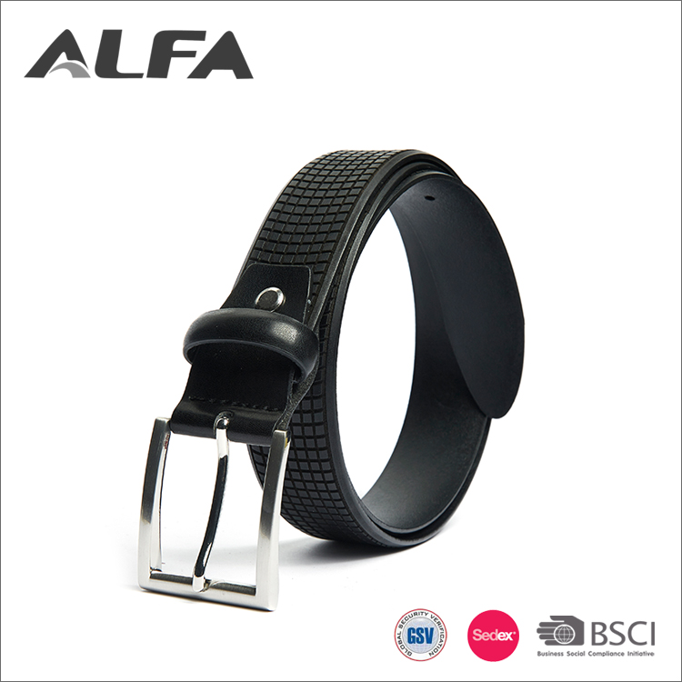 Alfa Hot China Manufacturer Custom Logo Brand Designer Cow Genuine Leather Belts For Men