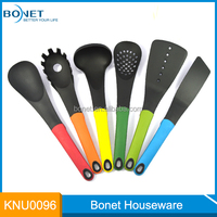Eco-friendly kitchen utensil set , 6PCS Plastic kitchen utensils with stand handle
