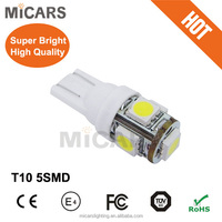 Top sale OEM 5SMD high quality auto 5050 chips T10 car led lamps