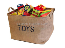 "Jute ""TOYS"" 17""Long x 13"" Wide(3 SIZES) Storage Bin - Storage Baskets for organizing Baby Toys, Kids Toys"