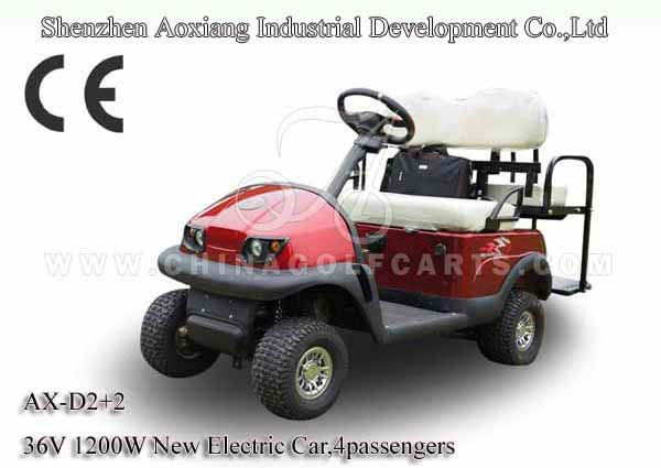 High Performance electric golf buggy with 2 seat 36V 1200W Motor and airport electric golf cart